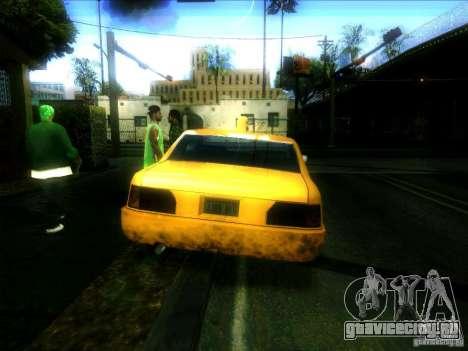 Sunrise Taxi для GTA San Andreas вид сзади слева
