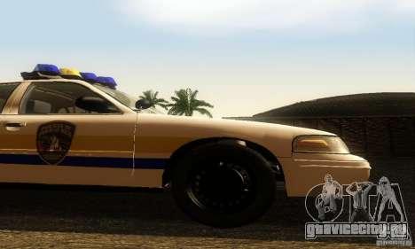 Ford Crown Victoria Puerto Rico Police для GTA San Andreas вид справа