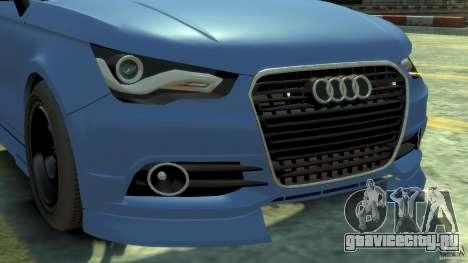 Audi A1 для GTA 4 вид сзади