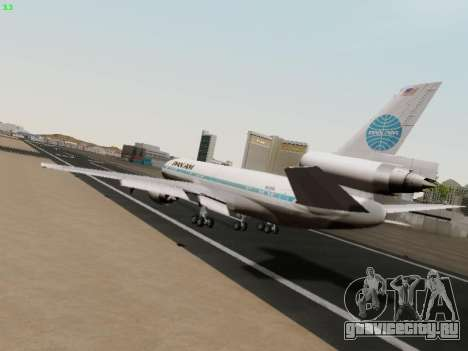 McDonell Douglas DC-10-30 PanAmerican Airways для GTA San Andreas вид справа