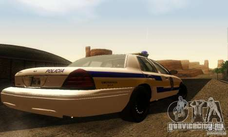 Ford Crown Victoria Puerto Rico Police для GTA San Andreas вид слева