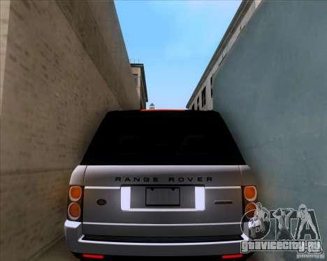 Range Rover Hamann Edition для GTA San Andreas вид сверху