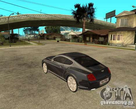 Bentley Continental GT для GTA San Andreas вид слева