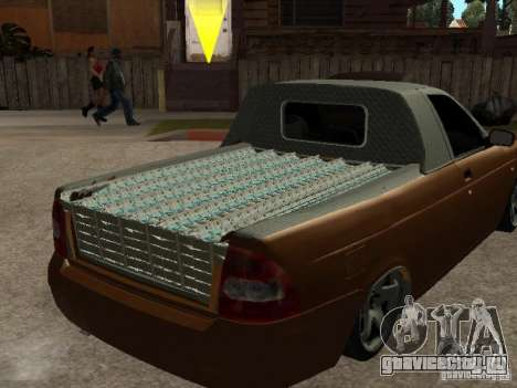 ВАЗ 2170 Пикап для GTA San Andreas вид сзади