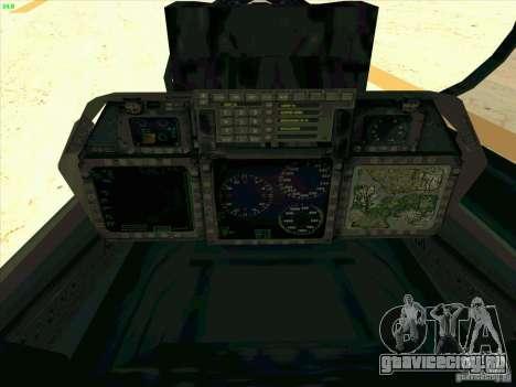 F-14 Tomcat Razgriz для GTA San Andreas вид сверху