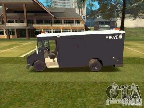 Swat Van from L.A. Police для GTA San Andreas вид сзади слева