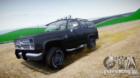 Chevrolet Blazer K5 Stock для GTA 4 вид сверху