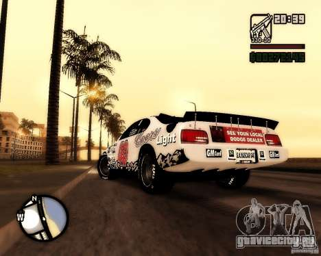 Dodge Nascar Beers Light 40 для GTA San Andreas вид слева