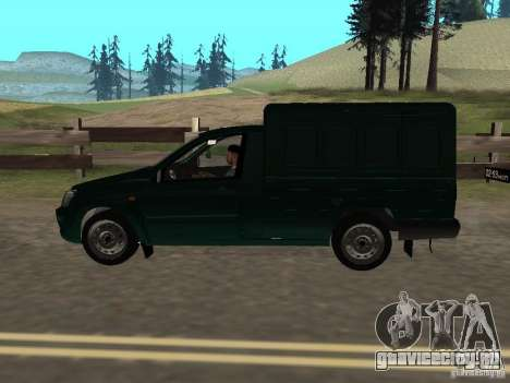 ВАЗ 2190 Каблук для GTA San Andreas вид сзади слева