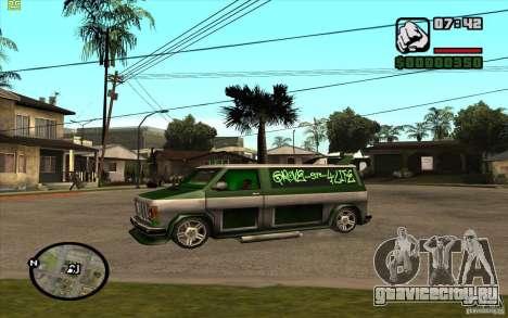 Grove Street Gang Burrito для GTA San Andreas вид сзади слева
