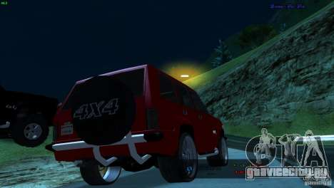 FBI Huntley 4x4 для GTA San Andreas вид слева