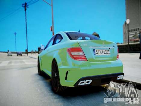 Mercedes-Benz C63 AMG Black Series 2012 v1.0 для GTA 4 вид сбоку