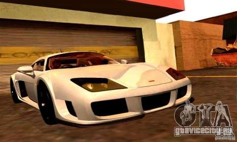 Noble M600 Final для GTA San Andreas вид сзади слева