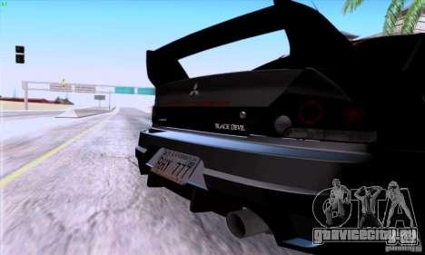 Mitsubishi Lancer EVO VIII BlackDevil для GTA San Andreas вид справа