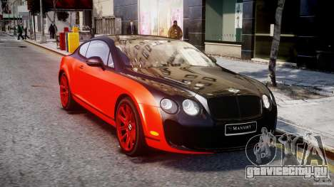Bentley Continental SS 2010 Le Mansory [EPM] для GTA 4 вид сзади