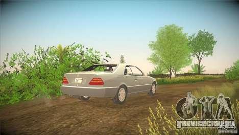 Mercedes Benz 600 SEC для GTA San Andreas вид сзади слева