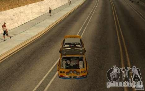 Opel Manta 400 для GTA San Andreas вид изнутри