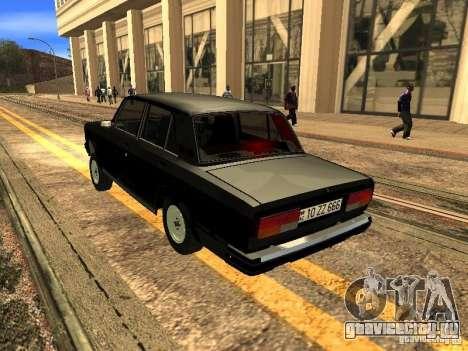 ВАЗ 2107 ZZ Style для GTA San Andreas вид справа