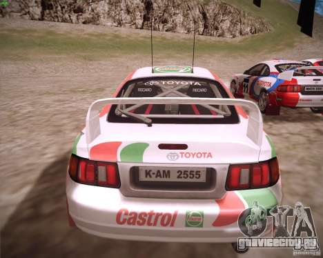 Toyota Celica ST-205 GT-Four Rally для GTA San Andreas вид слева