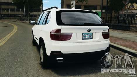 BMW X5 xDrive48i Security Plus для GTA 4 вид сзади слева