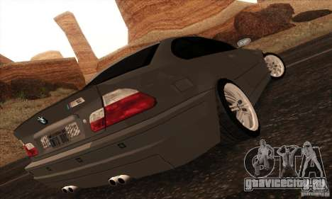 BMW M3 для GTA San Andreas вид слева