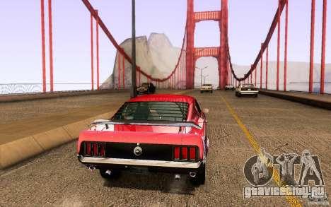 Ford Mustang Boss 302 для GTA San Andreas вид сзади