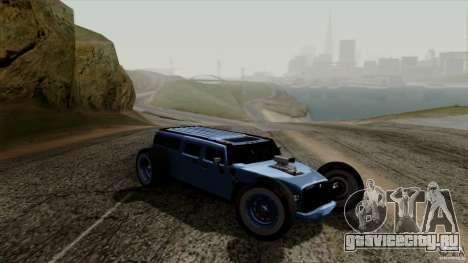 Hummer H2 The HumROD для GTA San Andreas вид сзади слева