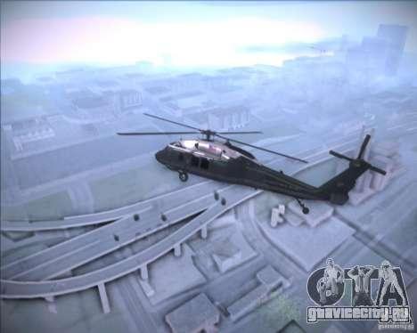 Sikorsky VH-60N Whitehawk для GTA San Andreas вид сзади