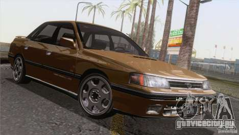 Subaru Legacy RS для GTA San Andreas вид изнутри