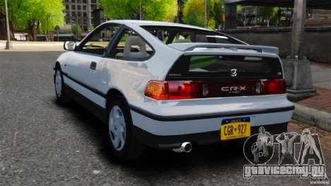 Honda CRX 1991 для GTA 4 вид сзади слева