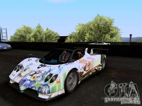 Pagani Zonda EX-R для GTA San Andreas вид изнутри