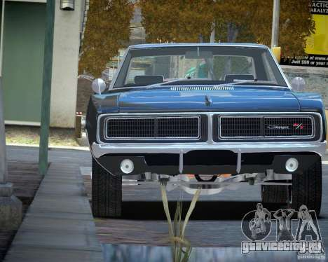 Dodge Charger RT Stock [EPM] для GTA 4 вид сзади