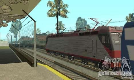 Электровоз ЭП10 для GTA San Andreas вид сзади слева