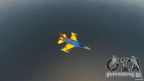 F-16C Fighting Falcon для GTA 4 вид изнутри