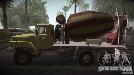 Урал 4320 Бетономешалка для GTA San Andreas вид слева