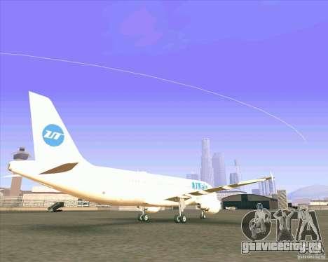 Airbus A-320 авиакомпании UTair для GTA San Andreas вид сзади слева