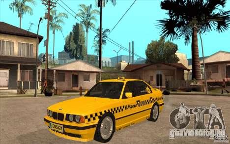 BMW 525tds E34 Taxi для GTA San Andreas