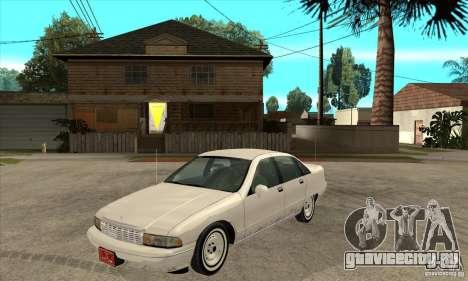 Chevrolet Caprice 1991 для GTA San Andreas вид сзади слева