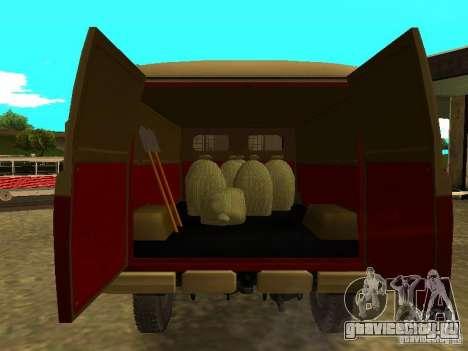 УАЗ 450 для GTA San Andreas вид изнутри