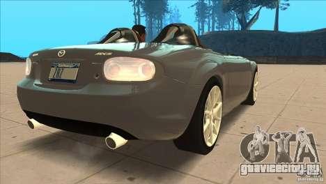 Mazda MX5 Miata Superlight 2009 V1.0 для GTA San Andreas вид справа