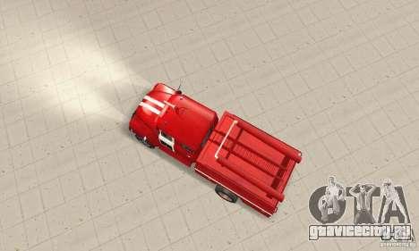 ЗИЛ-130 пожарная для GTA San Andreas вид справа