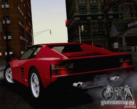 Ferrari Testarossa 1986 для GTA San Andreas вид слева