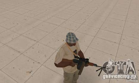 Переносной пулемет Калашникова для GTA San Andreas второй скриншот