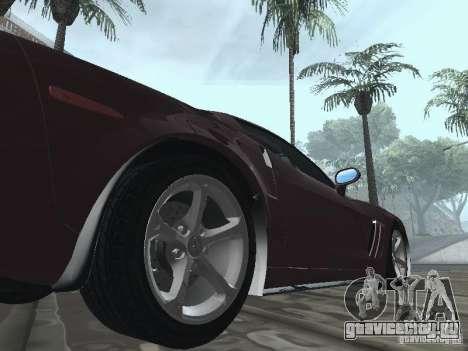 Chevrolet Corvette Grand Sport 2010 для GTA San Andreas вид сзади
