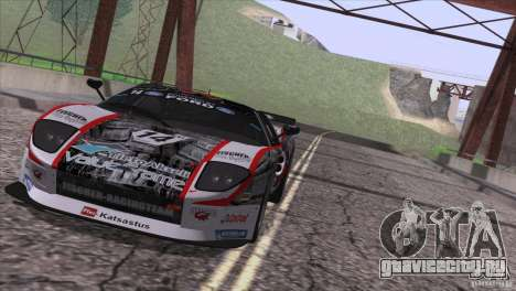 Ford GT Matech GT3 Series для GTA San Andreas вид изнутри