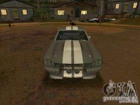 Ford Shelby GT500 Eleanor для GTA San Andreas вид сзади