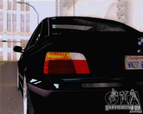 BMW M3 E36 New Wheels для GTA San Andreas вид изнутри