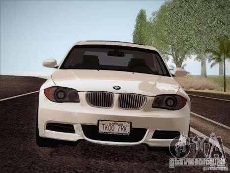 BMW 135i для GTA San Andreas вид изнутри