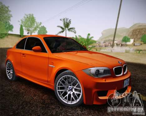 BMW 1M v2 для GTA San Andreas вид сзади
