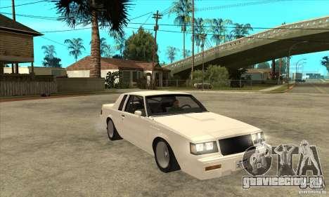 Buick Regal Grand National GNX для GTA San Andreas вид сзади